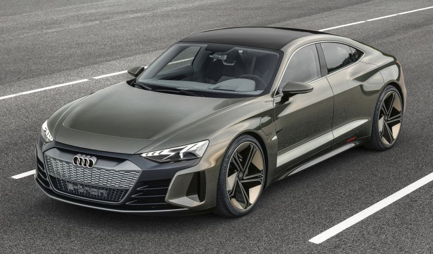 Audi e-tron GT concept debuts at Los Angeles Auto Show – 582 hp EV, production version due by end 2020 Image #895961