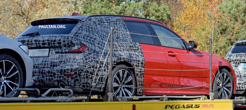SPYSHOTS: G21 BMW 3 Series Touring with less camo Image #885147