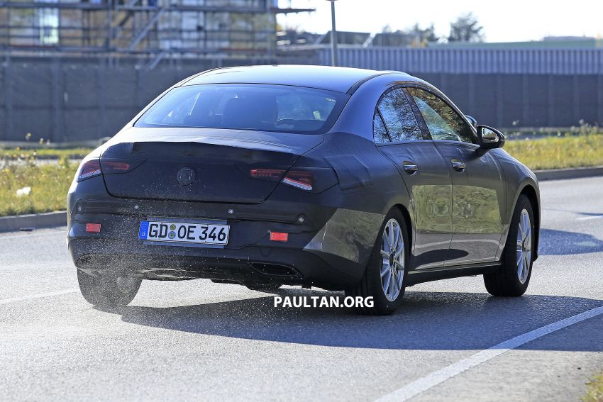 SPIED: C118 Mercedes-Benz CLA almost without camo Image #887494