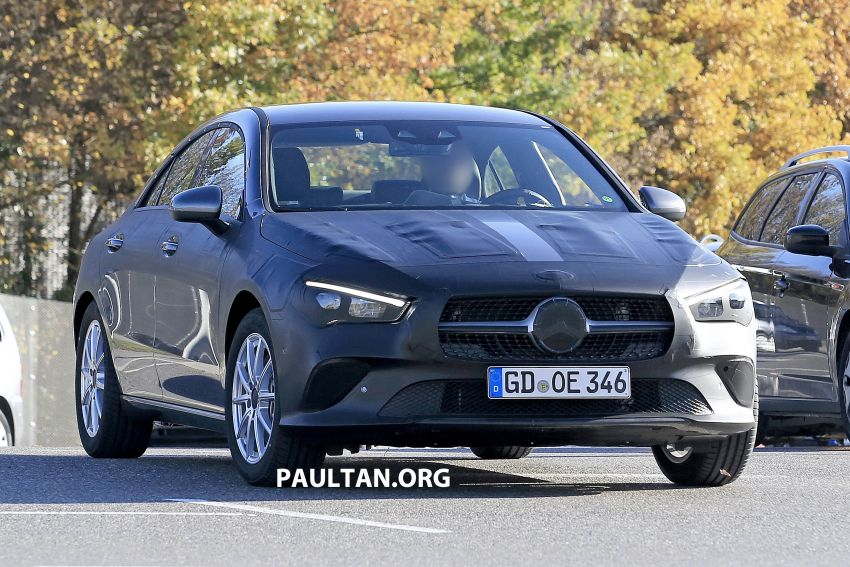 SPIED: C118 Mercedes-Benz CLA almost without camo Image #887483