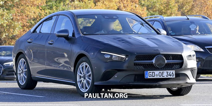 SPIED: C118 Mercedes-Benz CLA almost without camo Image #887485