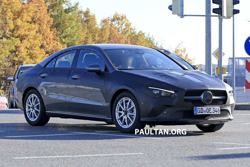 SPIED: C118 Mercedes-Benz CLA almost without camo Image #887486