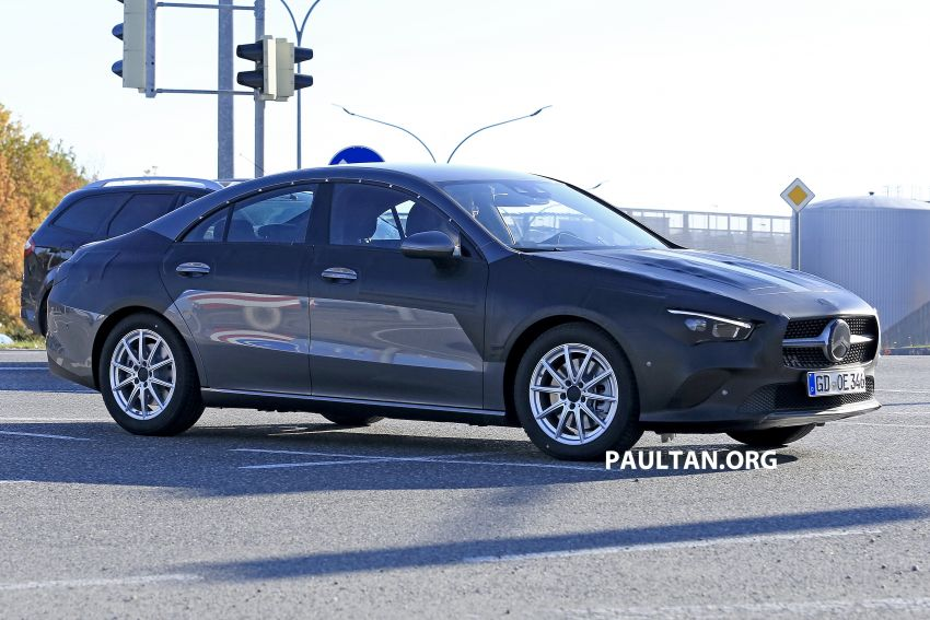 SPIED: C118 Mercedes-Benz CLA almost without camo Image #887488
