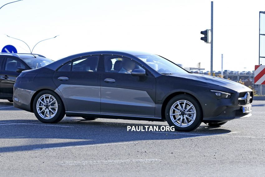 SPIED: C118 Mercedes-Benz CLA almost without camo Image #887489