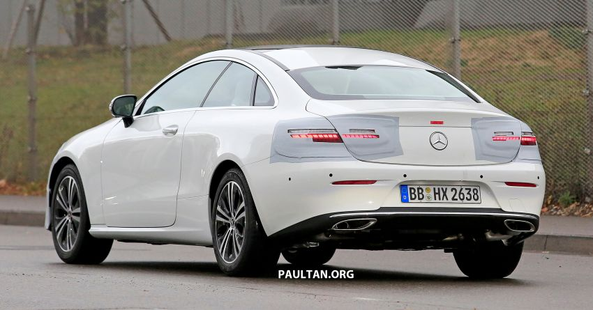 SPIED: C238 Mercedes-Benz E-Class Coupe facelift spotted – A-Class inspired face, new OLED tail lights Image #897009