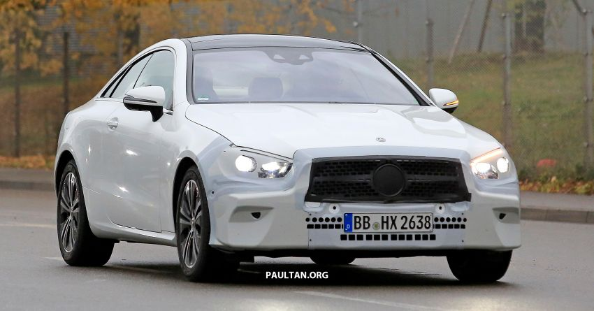 SPIED: C238 Mercedes-Benz E-Class Coupe facelift spotted – A-Class inspired face, new OLED tail lights Image #897010