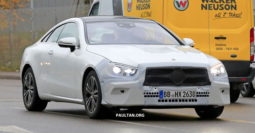 SPIED: C238 Mercedes-Benz E-Class Coupe facelift spotted – A-Class inspired face, new OLED tail lights Image #897011