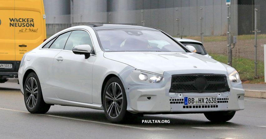 SPIED: C238 Mercedes-Benz E-Class Coupe facelift spotted – A-Class inspired face, new OLED tail lights Image #897012