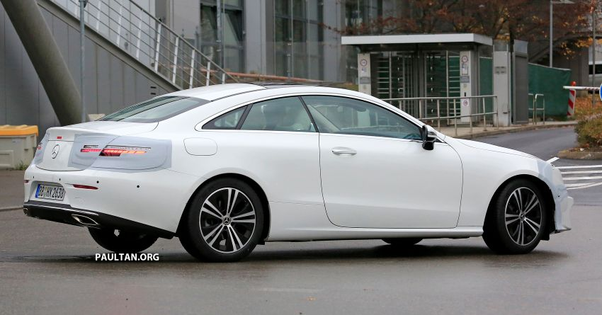 SPIED: C238 Mercedes-Benz E-Class Coupe facelift spotted – A-Class inspired face, new OLED tail lights Image #897015