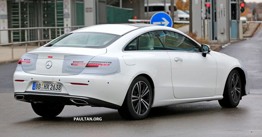 SPIED: C238 Mercedes-Benz E-Class Coupe facelift spotted – A-Class inspired face, new OLED tail lights Image #897016