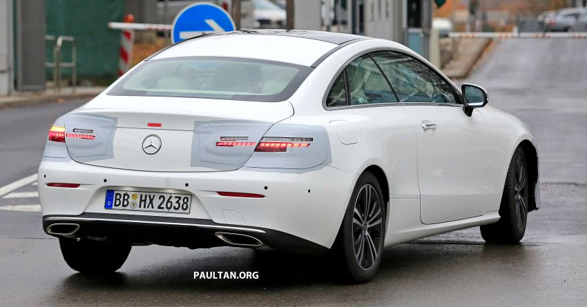 Mercedes E Coupe 2019 >> SPIED: C238 Mercedes-Benz E-Class Coupe facelift spotted – A-Class inspired face, new OLED tail ...