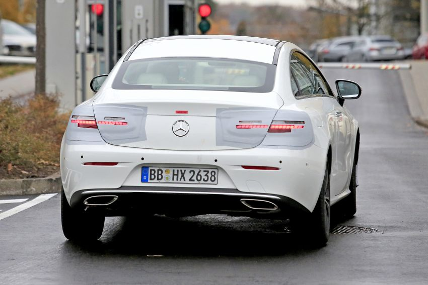 SPIED: C238 Mercedes-Benz E-Class Coupe facelift spotted – A-Class inspired face, new OLED tail lights Image #897019