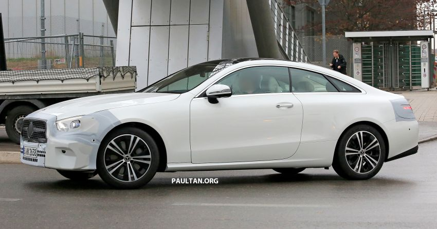 SPIED: C238 Mercedes-Benz E-Class Coupe facelift spotted – A-Class inspired face, new OLED tail lights Image #897003