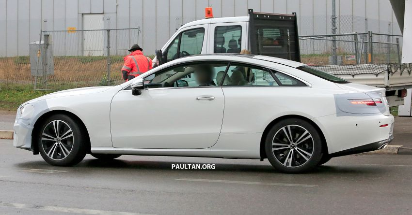 SPIED: C238 Mercedes-Benz E-Class Coupe facelift spotted – A-Class inspired face, new OLED tail lights Image #897005