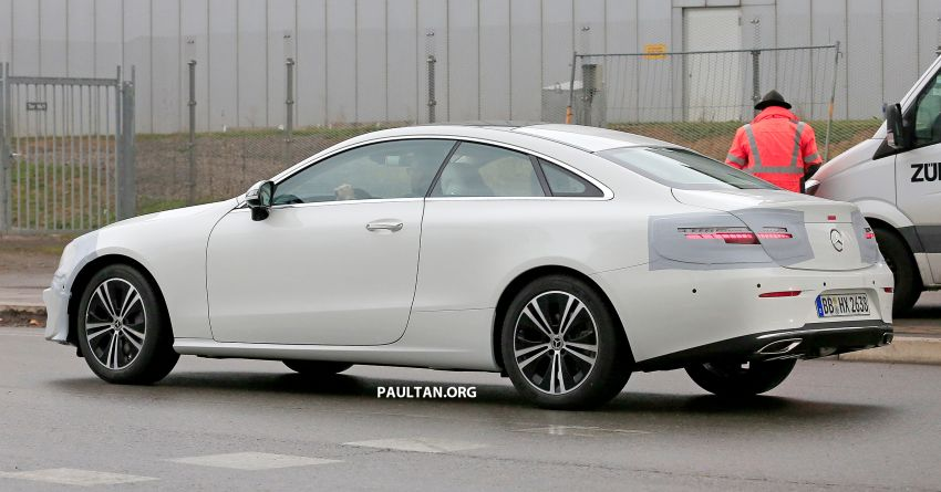 SPIED: C238 Mercedes-Benz E-Class Coupe facelift spotted – A-Class inspired face, new OLED tail lights Image #897006