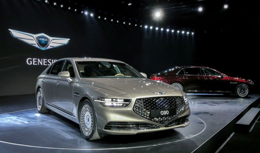 Genesis G90 facelift – major exterior overhaul for limo Image #895146