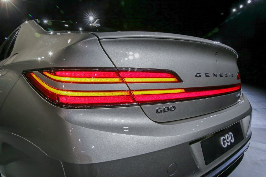 Genesis G90 facelift – major exterior overhaul for limo Image #895148