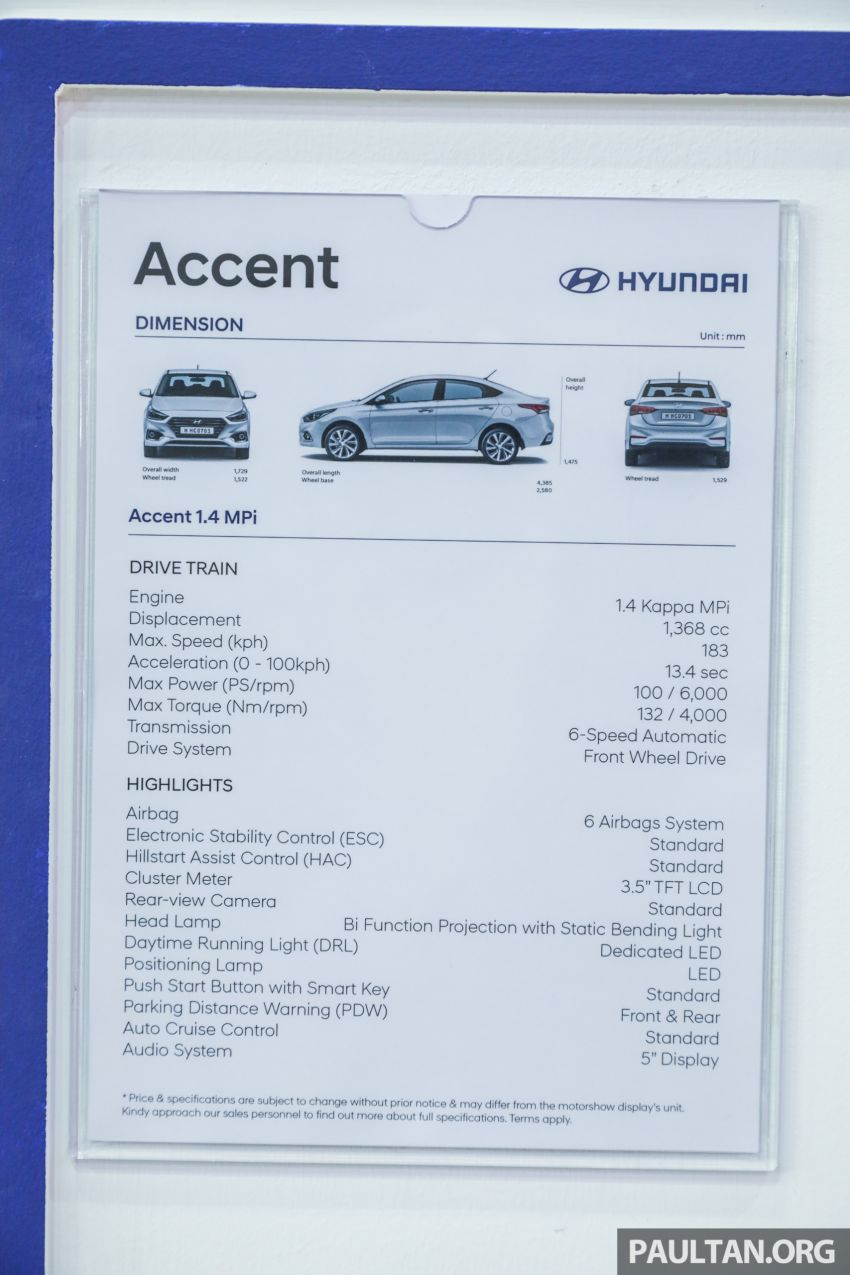 KLIMS18: Hyundai Accent dipertonton – 1.4L Kappa, 6 beg udara; alternatif selain Honda City/Toyota Vios Image #893531