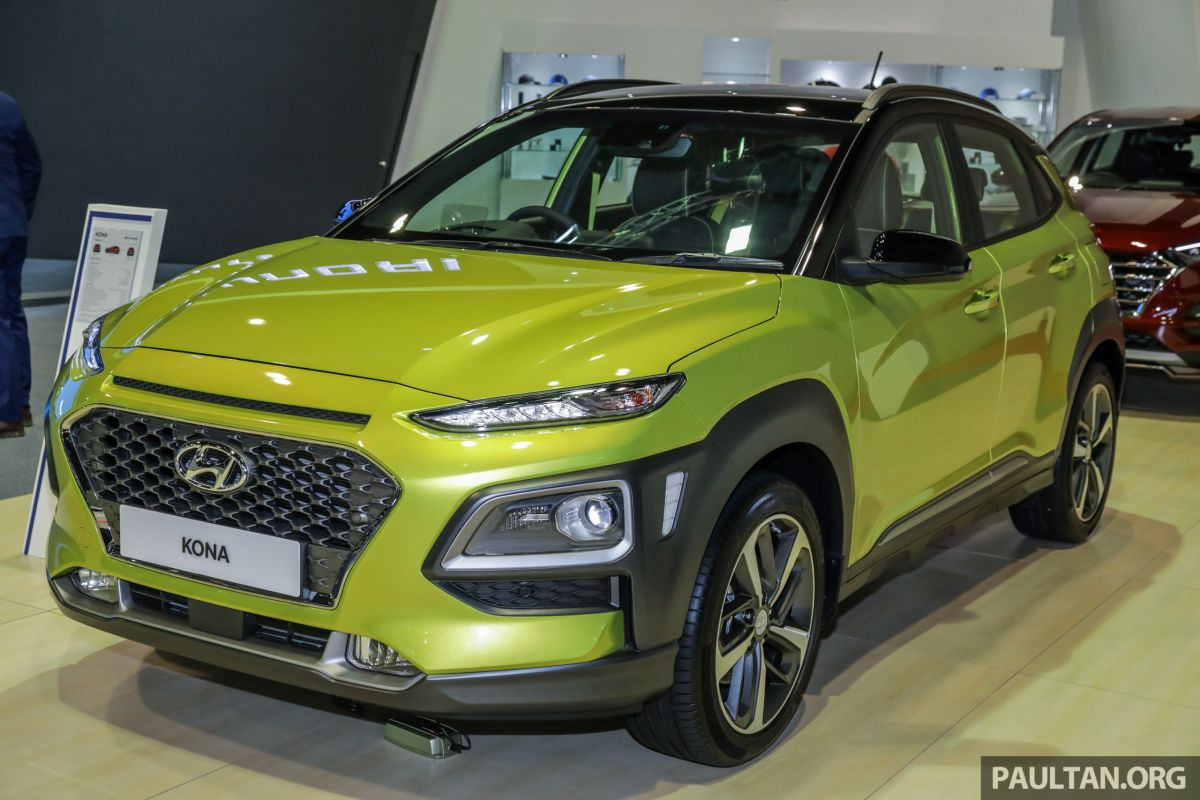 klims18 hyundai kona electric 1 6 turbo on show ice version set for q2 2019 malaysian debut. Black Bedroom Furniture Sets. Home Design Ideas