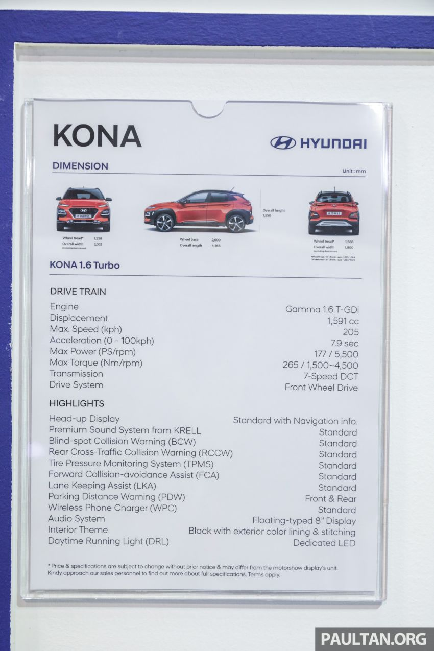 KLIMS18: Hyundai Kona Electric, 1.6 Turbo on show – ICE version set for Q2 2019 Malaysian debut Image #892408