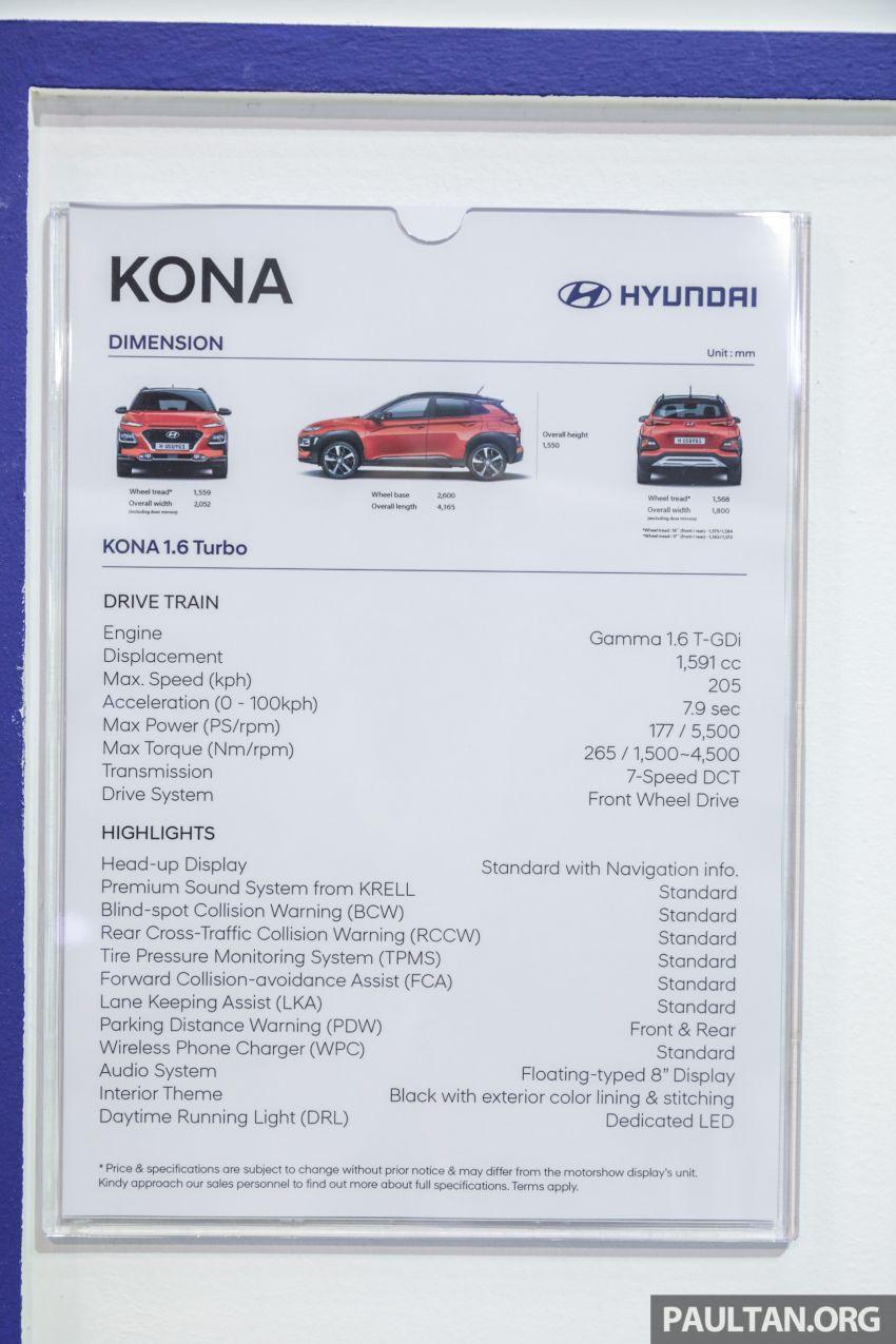 KLIMS18: Hyundai Kona 1.6 Turbo dan Electric – model enjin petrol mungkin dilancar pada Mei 2019 Image #892867