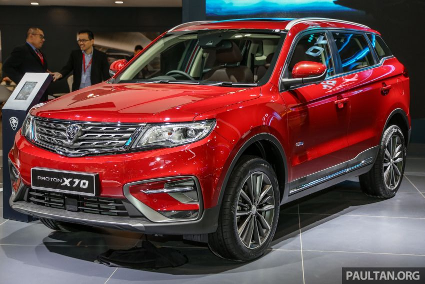 KLIMS18: Proton X70 SUV full preview, inside and out Image #891594