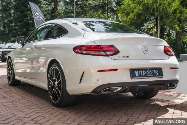 C205 Mercedes Benz C Class Coupe Facelift Debuts In Malaysia C200