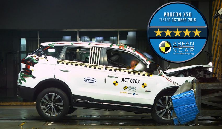Proton X70 terima penarafan ASEAN NCAP 5-bintang Image #889784