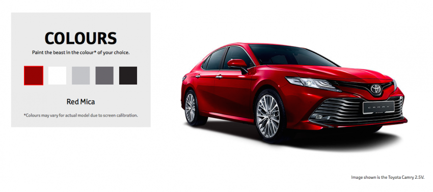 2019 Toyota Camry 2.5V Malaysian specs out, RM190k Image #882145