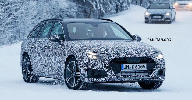 Spied Audi A4 Sedan Avant Facelift Seen Cold Testing