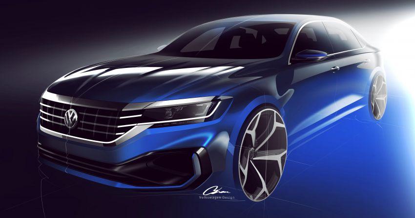 VW Passat generasi baharu pasaran AS – <em>teaser</em> di siar, guna platform & enjin sedia ada, muncul Jan 2019 Image #902218