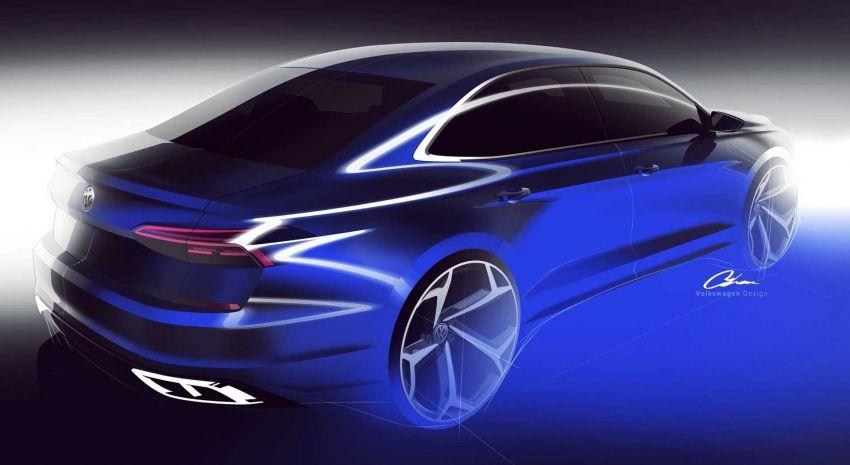 VW Passat generasi baharu pasaran AS – <em>teaser</em> di siar, guna platform & enjin sedia ada, muncul Jan 2019 Image #902217