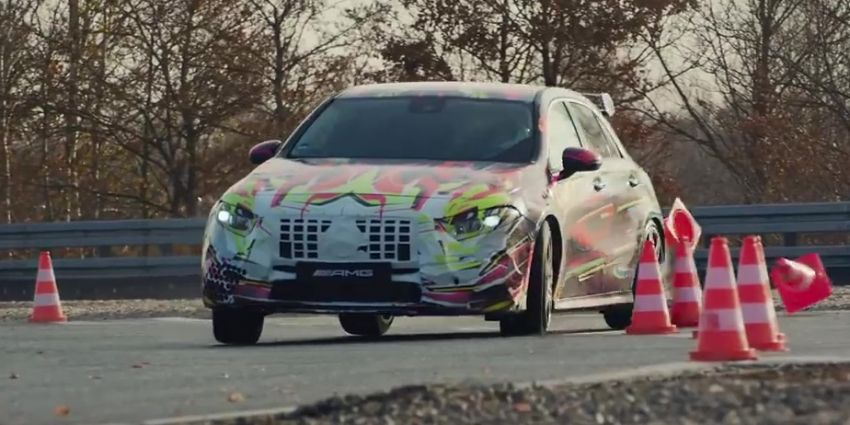 New Mercedes-AMG A45 gets teased with drift mode? Image #904422