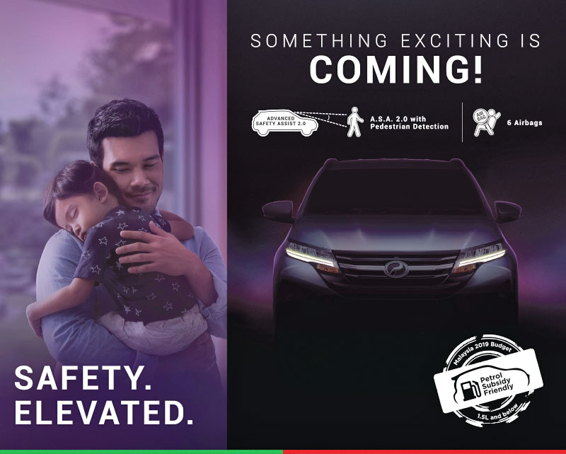 Perodua releases second D38L SUV teaser – different face from Rush, ASA 2.0 with pedestrian detection Image #900971