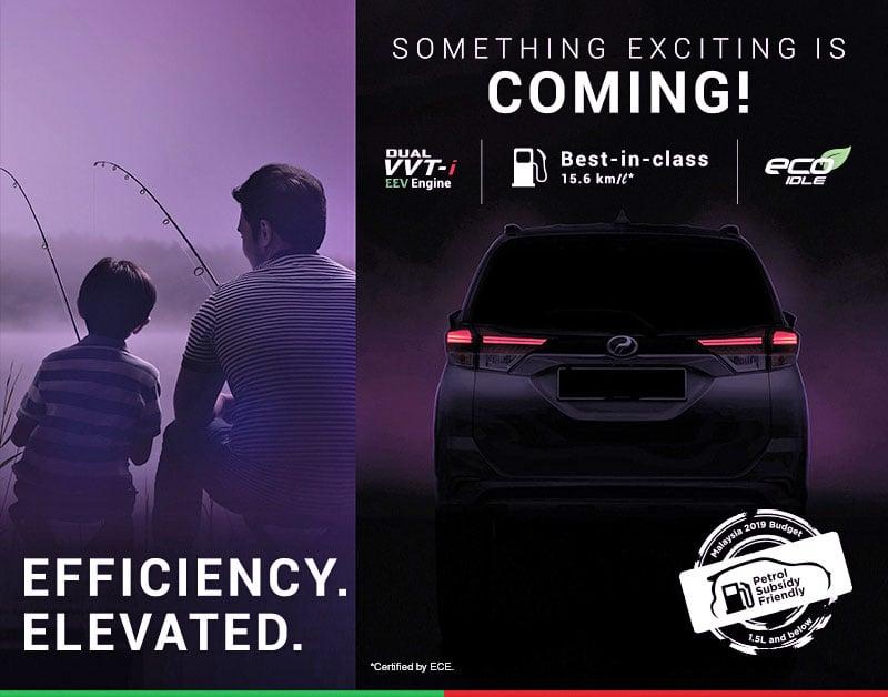 Perodua dedah teaser ke-3 SUV D38L – sudut belakang Image #902488