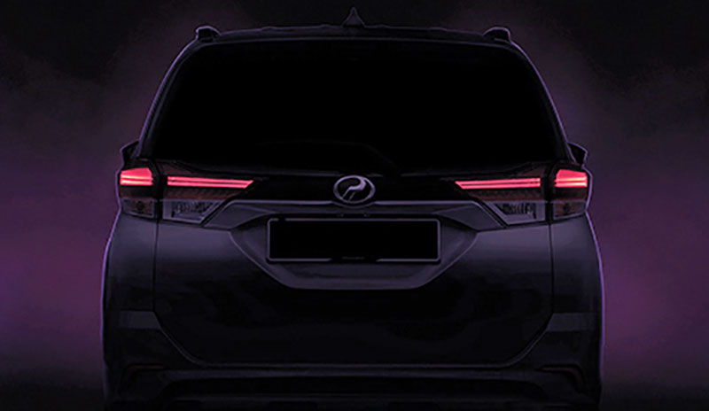 Perodua releases third D38L SUV teaser – rear end Image #902457