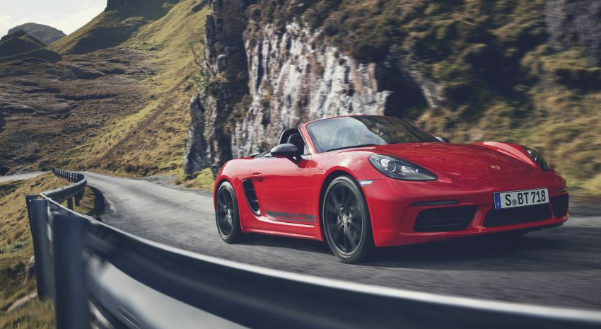 New Porsche 718 T – Boxster and Cayman stripped Image #903533