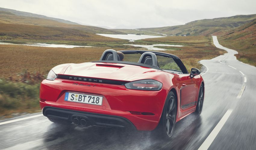New Porsche 718 T – Boxster and Cayman stripped Image #903535