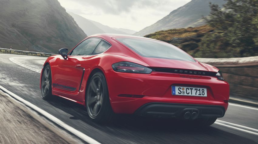 New Porsche 718 T – Boxster and Cayman stripped Image #903546