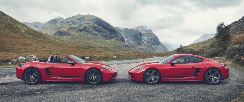 New Porsche 718 T – Boxster and Cayman stripped Image #903549