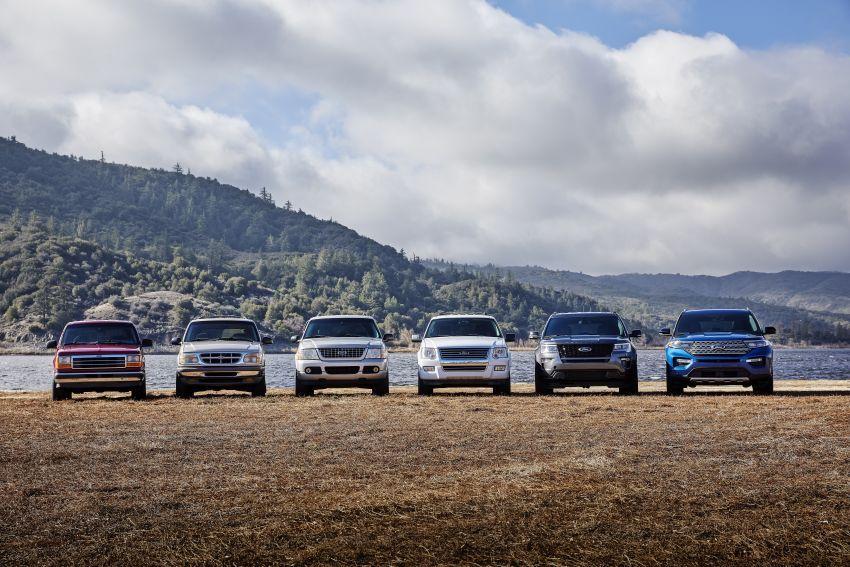 Ford Explorer 2020 didedah – pacuan roda belakang, 365 hp 3.0 liter biturbo V6, versi ST akan datang Image #908923
