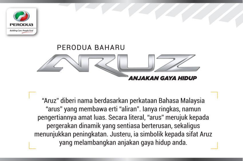Perodua Aruz – penjelasan di sebalik namanya Image #906785