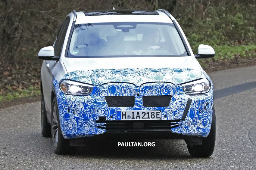 SPYSHOTS: BMW iX3 electric SUV caught once again Image #907474