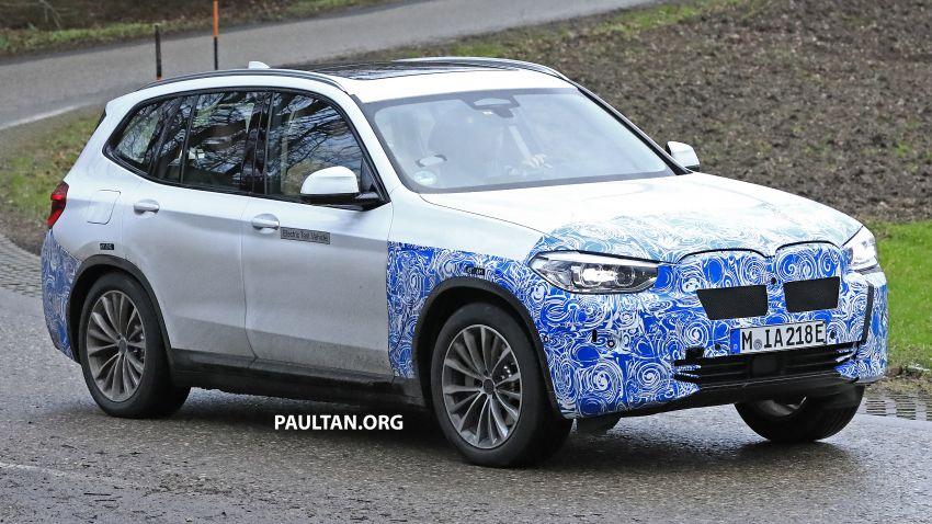 SPYSHOTS: BMW iX3 electric SUV caught once again Image #907476