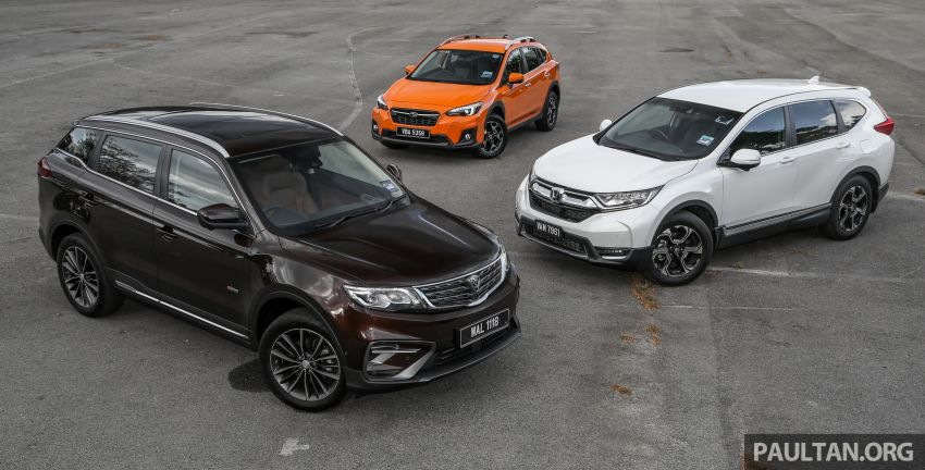 Driven Web Series 2019: New Proton SUV against rivals –  Proton X70 vs Honda CR-V vs Subaru XV Image #915711