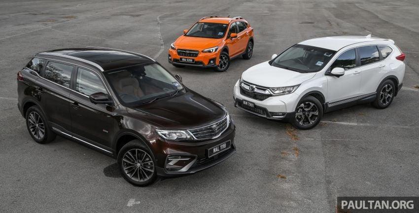 Driven Web Series 2019: New Proton SUV against rivals –  Proton X70 vs Honda CR-V vs Subaru XV Image #915711