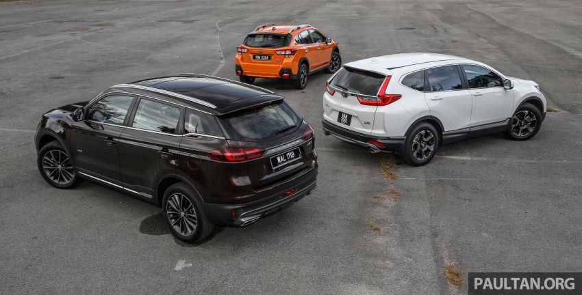 Driven Web Series 2019: New Proton SUV against rivals –  Proton X70 vs Honda CR-V vs Subaru XV Image #915712