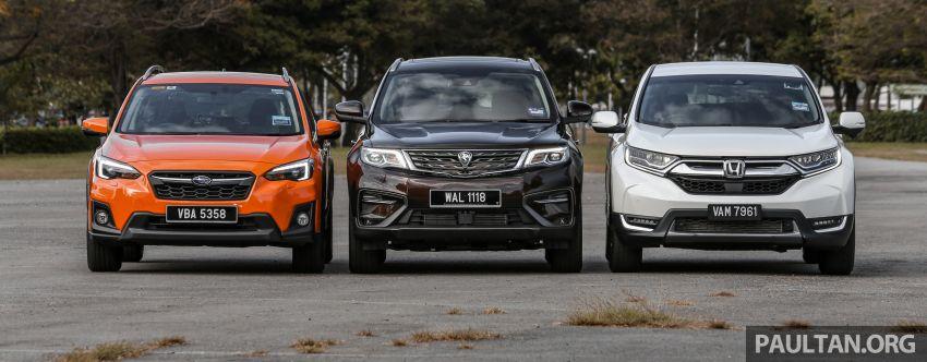 Driven Web Series 2019: New Proton SUV against rivals –  Proton X70 vs Honda CR-V vs Subaru XV Image #915713