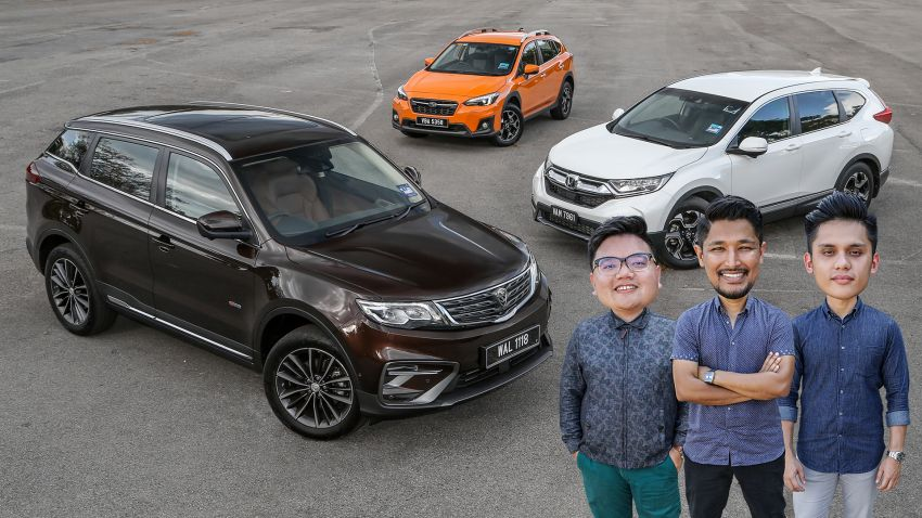 Driven Web Series 2019: New Proton SUV against rivals –  Proton X70 vs Honda CR-V vs Subaru XV Image #915705