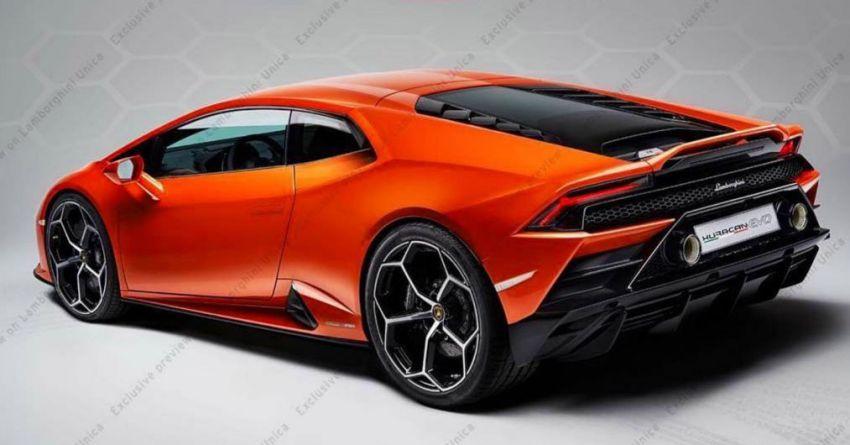 Lamborghini Huracan Evo tunjuk bahagian belakang Image #907299